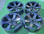 Black 22 inch Escalade Wheels Set Four Yukon Tahoe Suburban OEM Factory GM Style