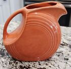 Homer Laughlin Fiesta Disc Pitcher Persimmon Orange (Retired Color)
