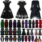 Women Halloween Fancy Dress Victorian Retro Vintage Cosplay Gothic Party Dresses