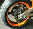 CUSTOM ORANGE MOTORCYCLE INNER RIM DECALS WHEEL STICKERS STRIPES TAPE VINYL WRAP