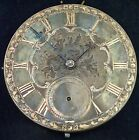 Solid Silver  Gold Dial English Fusee Lever Pocket Watch Movement circa 1845