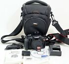 Canon EOS Rebel T3 EOS 1100D 180MP DSLR Black Body ONLY 2K SHUTTER COUNT