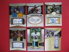 2005 EXQUISITE COLLECTION FOOTBALL, 6 CARDS LOT, ROOKIES AUTOGRAPHS.