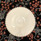 Vintage Large Fenton Glass Silver Crest Low Footed Cake Plate
