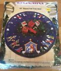 Vintage BUCILLA Felt Applique Tree Skirt Kit NATIVITY 82720 43 Round NIP