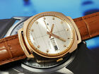 VINTAGE MEN'S FORTIS TRUE LINE AUTOMATIC WITH DATE SWISS MADE CASE PINK GOLD.