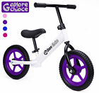 Purple Balance Bike No Pedals Adjustable Bicycle Riding Walking Learning Scooter