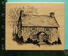 Large HERITAGE COLLECTION STONE HOUSE COTTAGE Rubber Stamp by PSX HC 1663