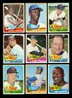 LOT OF 140 DIFFERENT 1965 TOPPS BASEBALL CARDS PARTIAL SET VG GMCARDS