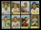 LOT OF 168 DIFFERENT 1954 BOWMAN BASEBALL CARDS PARTIAL SET POOR VG GMCARDS