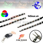 4 Pcs 145mm Motors Exterior Wheel RGB LED Lighting Strips For Husaberg FE450
