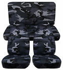 Designcovers Seat Covers Front  Rear to Fit 87 95 JP Gray Camo 22