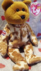 TY Beanie Baby 2003 HERO UK Flag TEDDY BEAR Patch Right Shoulder MWMT Retired