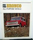 1966 Ford Bronco Sports Utility Wagon Roadster Truck Sales Brochure Original