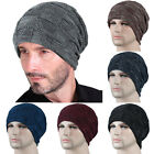 Mens Women Winter Warm Knitted Beanie Hats Ski Oversized Slouch Ski Caps Outdoor