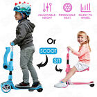 2 in 1 Kids Scooter Deluxe for Age 3 12 Adjustable Hight Kick Scooter LED Wheels