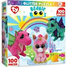 MasterPieces Ty Beanie Boo Fairytale Club - 100 Piece Glitter Kids Puzzle New