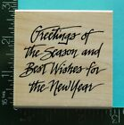 GREETINGS OF THE SEASON Christmas Rubber Stamp by CoMotion
