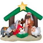 Christmas Yard Inflatable Nativity Religious Manger Decoration Air Inflate Blow