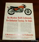 Vintage Moto Guzzi 850 T Poster LOVELY! nos 850t tonti ROLLED