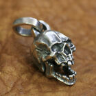 925 Sterling Silver Charms Small Skull Pendant Mens Details Pendant TA176A JP
