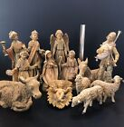Vintage Fontanini Christmas Nativity Italy 12 Scale 14 Pieces Stunning