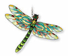 GREEN DRAGONFLY 5 1 2 X 5 AMIA STAINED GLASS SUNCATCHER 42345