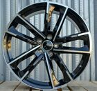 19 Inch Black Wheels Fits Audi A4 A5 S4 S5 A6 Q5 19x85 +35 5x112 Rims Set 4