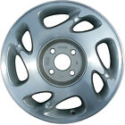 07012 Refinished Saturn SL2 2000 2002 15 inch Wheel Rim OEM Painted Flat Silver