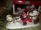 Lemax Village Collection Porcelain Off To The Fire  Christmas Firefighters