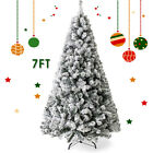 7Ft Simulate Falling Snow Snowflake Christmas Tree W Stand Holiday Season