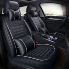 5-seats Suv Pu Leather Car Full Set Seat Cover Frontrear W Pillows Cushions Us
