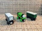 Thomas & Friends Wooden Railway Percy, Baggage Car & Troublesome Truck. 2012.