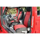 For Jeep Wrangler Jk 11 17 Front Seat Covers Black W Red X 1321553