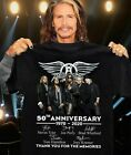 Aerosmith Rock Band 50th Anniversary Thank You For The Memories Shirt Funny HOT