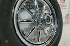 Harley Davidson OEM Chrome 9 Spoke Front Wheel 3 4 Axle Softail Heritage 5016