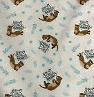 Very Punny Otterly Awesome Otters Camelot Cotton Fabric