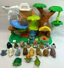 2011 Fisher Price Little People Zoo Talkers Tree House Play Set 18 Animals Works