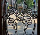 Beautiful Antique Chicago Art Nouveau Beveled Glass Transom Window 52 x 20
