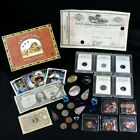 Lions Den Ad Box w Gemstones Early US Type Coins Ancient Coins