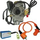 GY6 MOPED SCOOTER Performance 24MM Carburetor CDI Coil ATV Go Kart 150cc H CA10+