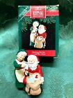 HALLMARK 1991  MR. AND MRS CLAUS CHECKING HIS LIST ORNAMENT 6TH IN SERIES