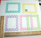 EYELET FRAME paper die cut embellisment FreeShipPromo scrapbook card making