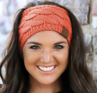 CC Exclusive Cable Knit Head Wrap SHERPA LINED, Ear Warmer 6 Colors!! HOT ITEM
