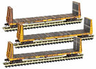 Micro-Trains MTL N-Scale 61ft Bulkhead Flat Cars TTX/TTPX 3-Pack Weathered