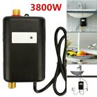 3800W 110V Instant Electric Tankless Hot Water Heater Kitchen Bathroom Shower