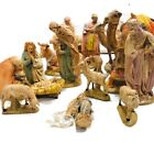 1970s Atlantic Molds 14 Piece Nativity Extra Large Hand Painted Vintage 12 Tall