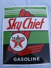 PORCELAIN SKY CHIEF TEXACO GASOLINE  SIGN