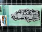 New Penny Black Rubber Stamp AUTUMN FALL PUMPKIN TRUCK Free USA ship cling