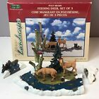Lemax Christmas Village House Feeding Deer Landscape Accessory Figure Set In Box